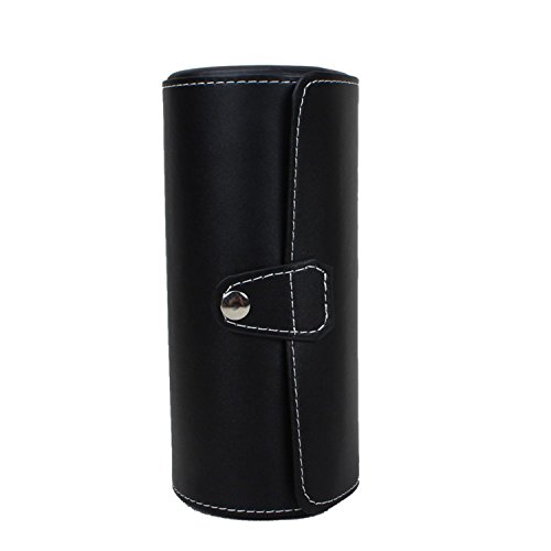 Autoark Leather Roll Traveler's Watch Storage Organizer for 3 Watch and/or Bracelets (Black),AW-006 by Autoark (Image #6)