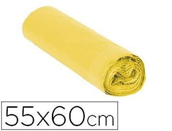 Sin Marca - Bolsa basura domestica amarilla con autocierre ...