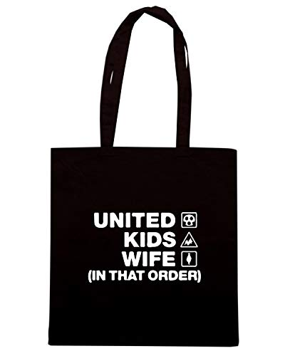Borsa Shopper Nera WC1134 CARLISLE UNITED KIDS WIFE ORDER DESIGN