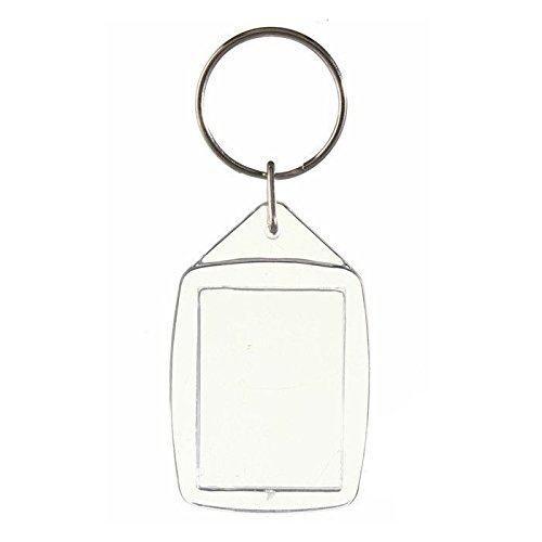 SODIAL(R) 30x Clear Acrylic Plastic Blank Keyrings Insert Passport Photo Keychain Keyfob