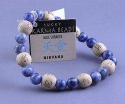 Zorbitz - Karmalogy Lucky Karma Beads Bracelet Blue Sodalite Nirvana
