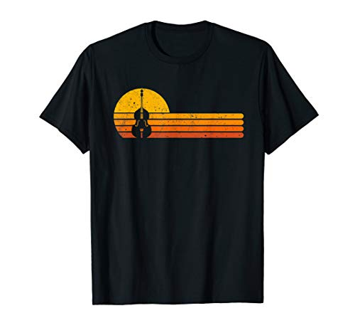 Retro Double Bass Jazz Instruments Music T-Shirt