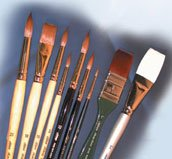 Silver Brush EK-930S Everett Raymond Kinstler Watercolor Brush Set, 9 Per Pack