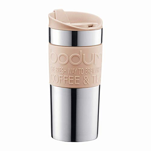 Bodum - Travel Mug - Vacuum Insulated - Stainless Steel - Pale Pebble