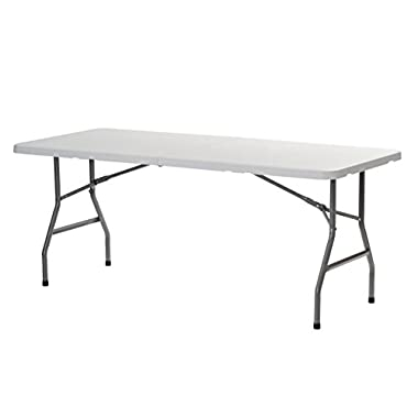 Sandusky Lee FPT7230 Commercial Folding Half Utility Table, 6', White