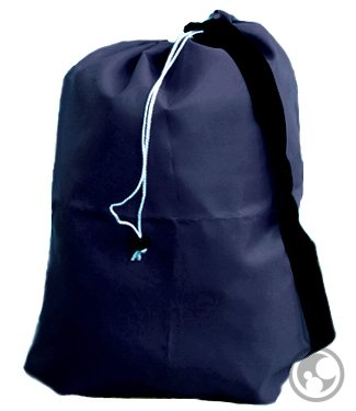 Small Laundry Bag with Drawstring, Carry Strap, Locking Closure, Color: Navy Blue, Size: 22x28 by Laundry Bag Store Online