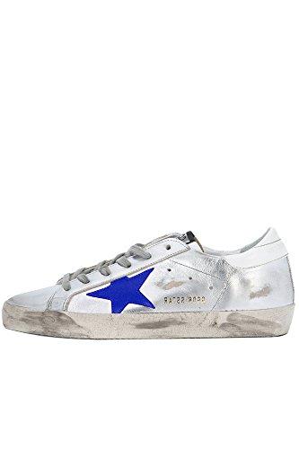 Golden Goose Damer Mcglcak02086i Sølv Læder Sneakers N3ZoY