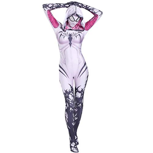 Boruixi Shops Halloween Holiday Gwen White Lycra