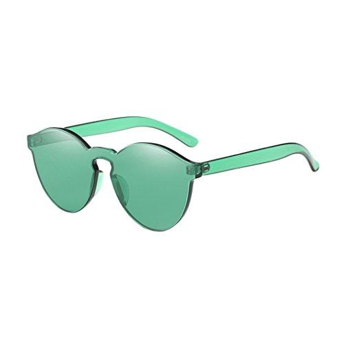 Fossen sol Transparentes Redondas Mujer Gafas Verde Coloridas Retros de Gafas 1qS41nr