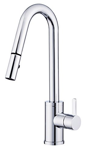 - Danze D457130 Amalfi Trim Line Single Handle Pull-Down Kitchen Faucet with SnapBack Retraction, Chrome