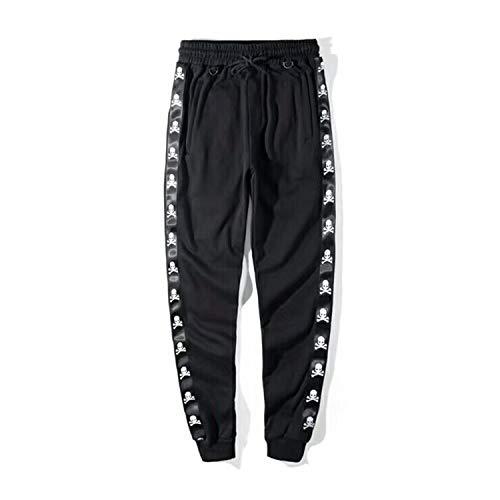 MERRYDAY Kanye West Mastermind Japan Ribbon Skeleton Printing Pocket Zipper Men Shorts style2 M (Mastermind Japan Clothing)