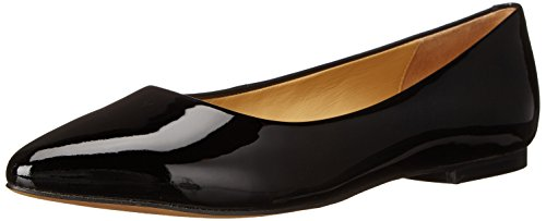 Estee Women's Flat Patent Black Trotters Ballet qwfT5n644A