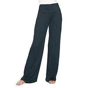 365 Everyday Everywhere Womens Wide Leg Palazzo Pants – High Waist Foldover – Comfortable Casual Wear