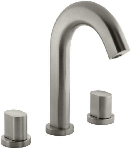 KOHLER K-T10059-9-BN Oblo Deck-Mount Bath Faucet Trim, Valve not Included, Vibrant Brushed Nickel - Distressed Nickel Tub