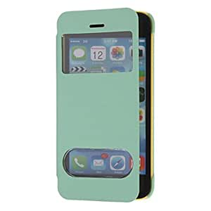 QYF Matte Skid Resistance Full Body Case with Window for iPhone 5C (Optional Colors) , White
