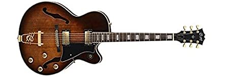 Cort York Town semi Acoustic Guitarra Jazz Tobacco Burst: Amazon ...