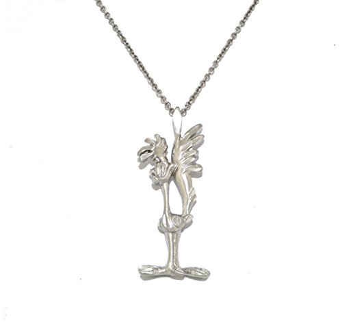 14K White Gold Road Runner Charm (Gold 14k Runner Charm)