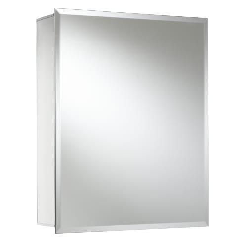Jacuzzi PD40000 20'' H x 16'' W x 5-1/4'' D Single Door Medicine Cabinet, Silver Aluminum by Jacuzzi
