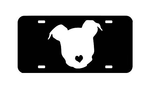 American Pit Bull Rescue - Pit Bull License Plate,Animal Rescue, American Pit Bull, Bully Breed, Pit Bull Heart, Car Front Tag, Pit Car Tag Auto Car License Plate Frames for Women