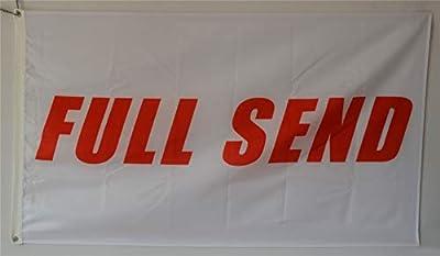 Annfly Full Send Banner Flag 3x5Ft Nelk Nelkboys for The Boys White Banner