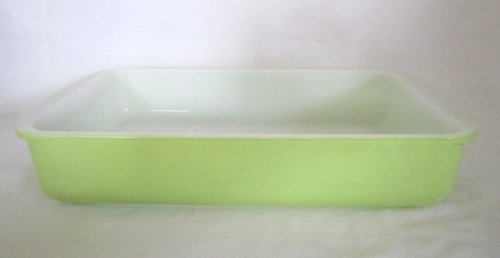 Vintage Kitchen Glass Casserole (Vintage Pyrex LIME GREEN Glass Rectangular 1 1/2 Quart Casserole Baking Dish)