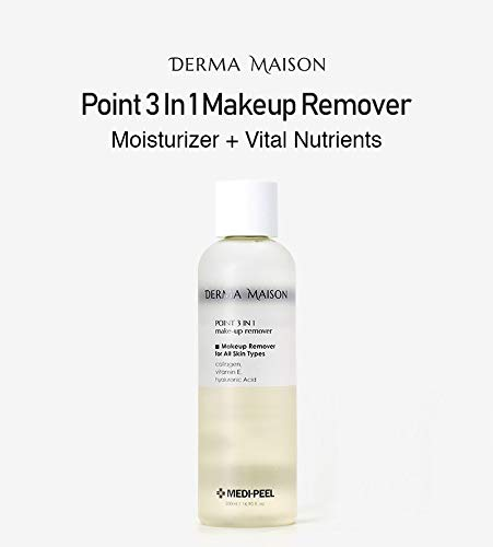 [Medi-Peel] Derma Maison Point 3In1 Makeup Remover, 500ml | Enriched with Vital Nutrients