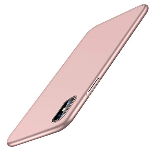 TORRAS Slim Fit iPhone Xs Max Case, Hard Plastic Ultra Thin Protective Cover Matte Finish Grip Phone Case for iPhone Xs Max 6.5 inch (2018), Rose Gold