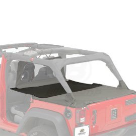 Pavement Ends by Bestop 41428-35 Black Diamond Cargo Cover Extension for 2007-2018 Wrangler JK (Bestop Jeep Cab Cover)