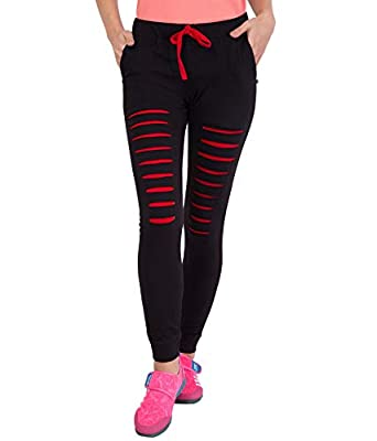 American-Elm Designer Cotton Slim Fit Track Pants for Women| Running Tights for Women Slim Fit | Active Sports Track Pant for Women