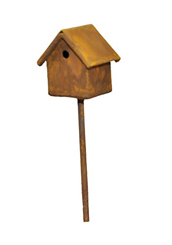 (G & F MiniGardenn 10020 Fairy Garden Miniature Bird House Pick)