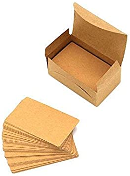 ... Message Card Blank Kraft Paper Mini Cards 100 PCS In A Box Business Card