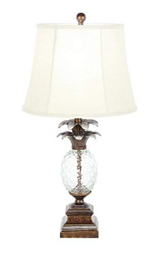 (GwG Outlet Polystone Glass Pineapple Lamp 29