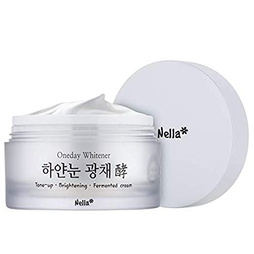 Nella Oneday Whitener, White Snow Whitening and Brightening Fermented Cream, Radiant Tone-Up, Korean Beauty, 50 ml