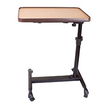 SoBuy® mesa auxiliar con ruedas, mesas de centro, mesas para portatiles, mesitas de noche, FBT07N3-N(Marrón/L52*P34*A55-90cm),ES: Amazon.es: Hogar