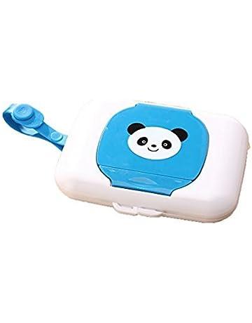 Whobabe Cartoon portátil bebé caja para toallitas húmedas de viaje Estuche para toallitas para bebé (