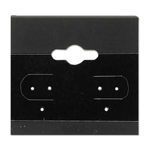 - Earring Display Hang Cards Black Flocked 1.5 X 1.5 Inches (100)