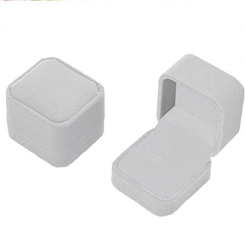 terciopelo joyas caja de regalo collar anillo pendientes almacenar para bodas Propuesta de joyas y Compromiso regalo (gris): Amazon.es: Hogar