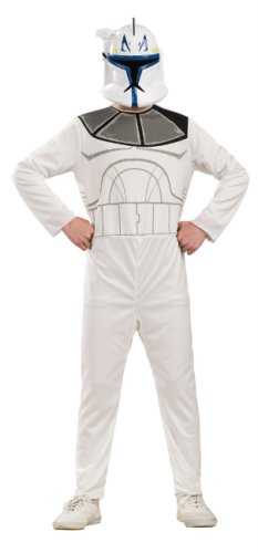 Star Wars The Clone Wars Captain Rex Action Suit Costume, Child Size 8 to 10 -