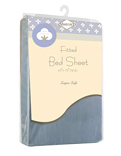Abstract Fitted Bed Sheets Soft Jersey Comfort Deep Pocket for Cot and Twin Mattresses (48