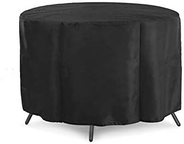 ラウンド籐家具カバー防水防風と抗UV 210Dオックスフォード屋外パティオ家具セットコーブ(サイズ:128x71cm)