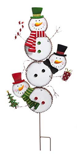 - New Creative Snowman Totem Metal Garden Stake