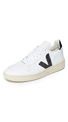 Sneakers pour Blanc basses Cuir VEJA homme Logo Homme Noir V10 Baskets q6tzx7Tw