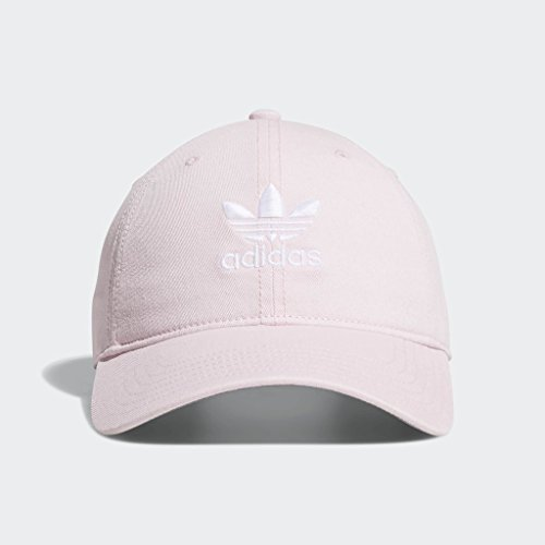 adidas Men's Originals Relaxed Strapback Cap, clear pink/white, One Size