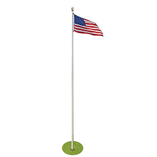 25ft Commercial Flagpole - Tapered Aluminum Made in USA