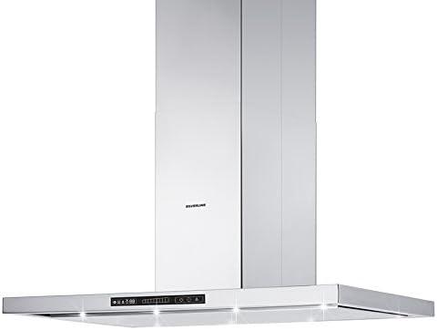 Silverline Leonis Isola Premium Loi 994.1 S/Campana isla Acero Inoxidable//90 cm/A: Amazon.es: Grandes electrodomésticos