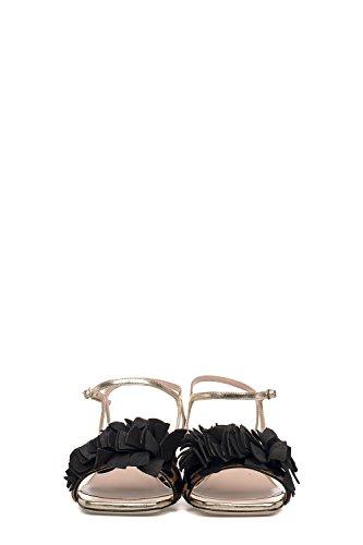 ALBERTO GOZZI Sandalias de Vestir Para Mujer Negro y Dorado It - Marke Größe