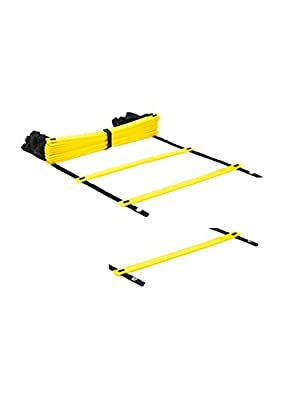 GenLed Adjustable Agility Speed Training Ladder with Black Carry Case