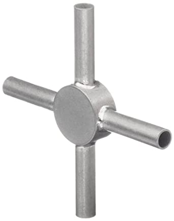 STC-09/4 Stainless Steel Hypodermic Tubing Connector , 9 Gauge, 4-Way (Pack of 10)