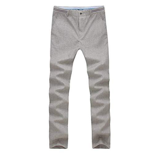 Unie Respirant Hommes Saoye Fashion Droit Décontracté Gris Lin En Beaux Clair Couleur Pour Adolescents Pantalon Homme AqnO5xC5v