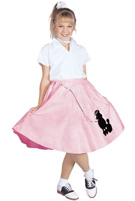 RG Costumes Poodle Skirt with Shirt, Large, Red (Red Poodle)